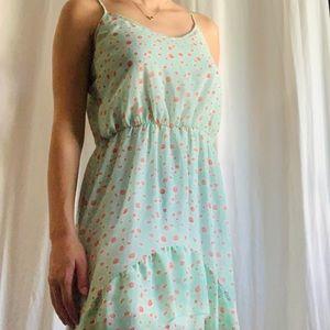 Cute summer high low floral dress!!